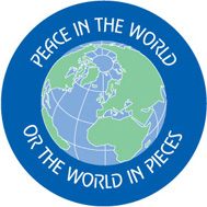 peace in the world button