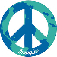 imagine peace sign magnet