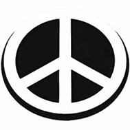 peace sign plaque