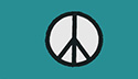 green peace sign flag